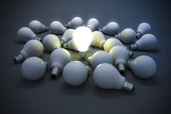 3d image of light bulb, creativity concept Stock Image