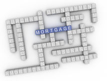 3d image Mortgage issues concept word cloud background.  Stock Images