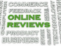 3d image Online reviews  issues concept word cloud background Stock Images