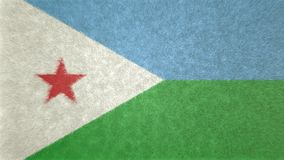 3D image originale, drapeau de Djibouti Illustration Stock