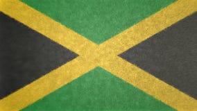 3D image originale, drapeau de la Jamaïque Photos libres de droits
