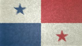 3D image originale, drapeau de Panamá City Photos stock