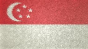 3D image originale, drapeau de Singapour Illustration Stock