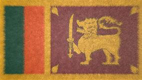 3D image originale, drapeau de Sri Lanka Illustration Libre de Droits
