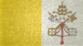 3D image originale, drapeau de Ville du Vatican Photos libres de droits