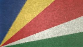 3D image originale, drapeau des Seychelles Photos libres de droits