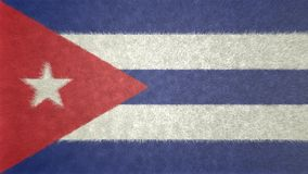 3D image originale, drapeau du Cuba Illustration Libre de Droits
