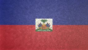 3D image originale, drapeau du Haïti Illustration Stock
