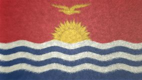3D image originale, drapeau du Kiribati Illustration de Vecteur