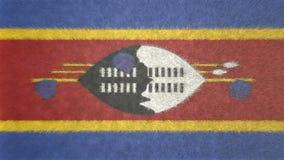 3D image originale, drapeau du Souaziland Photos stock