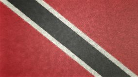 3D image originale, drapeau du Trinidad-et-Tobago Photos libres de droits