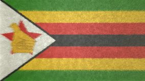 3D image originale, drapeau du Zimbabwe Illustration Stock