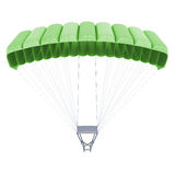 3d image of a parachute  on white background Stock Image