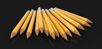 3d image of Pencils Royalty Free Stock Photo