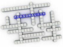 3d image Personality issues concept word cloud background Royalty Free Stock Photos