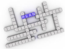 3d image Plan  issues concept word cloud background Royalty Free Stock Photography