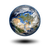 3D image of planet Earth. Isolated 3D image of planet Earth with shadow. View to Europe and Africa. Elements of this image furnished by NASA Stock Images
