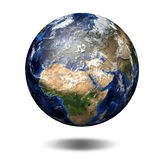 3D image of planet Earth. View to Europe and Africa Stock Photography