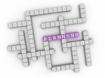 3d image Planning issues concept word cloud background Royalty Free Stock Photos