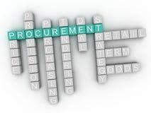 3d image Procurement  word cloud concept Stock Image
