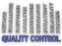 3d image quality control  issues concept word cloud background Royalty Free Stock Image