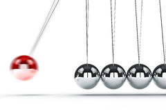 3d image render of newton's cradle Royalty Free Stock Photo