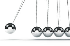 3d image render of newton's cradle Stock Photography