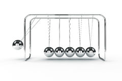 3d image render of newton's cradle Royalty Free Stock Images