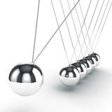 3d image render of newton's cradle Stock Photo
