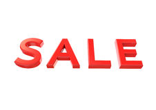 3d image of sale red text. On white background Stock Images