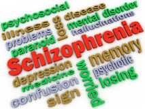 3d image Schizophrenia concept word cloud background Stock Photos