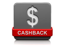 3d image of Sign cashback Royalty Free Stock Photography