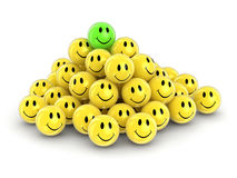 3d image of Smileys Royalty Free Stock Photography