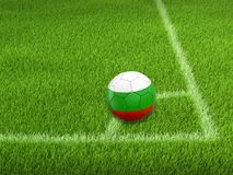 Soccer football with Bulgarian flag. 3d image of Soccer football with Bulgarian flag Stock Photo
