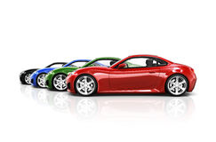 3D Image of Sports Car Collection Stock Photos