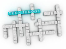 3d image Technology word cloud concept Royalty Free Stock Photo