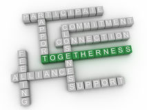 3d image Togetherness issues concept word cloud background.  Royalty Free Stock Images