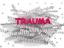 3d image Trauma word cloud concept vector illustration
