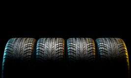 New car tire Stock Photography