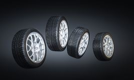 New car tire Royalty Free Stock Photo