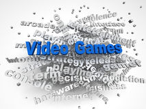 3d image Video games issues concept word cloud background.  Royalty Free Stock Images
