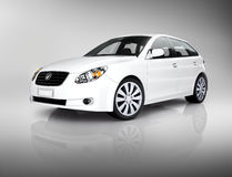 3D Image of White Luxury Vehicle Stock Images