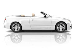 3D Image of White Luxury Vehicle Royalty Free Stock Image