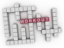3d image Workout word cloud concept Royalty Free Stock Photos