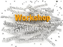 3d image Workshop word cloud concept Royalty Free Stock Images