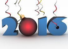 3D image 2016 year Stock Photo