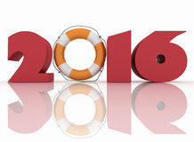 3D image 2016 year. Stock Image