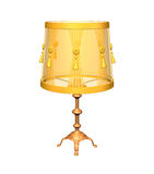 3D image of yellow lamp on white. Background vector illustration