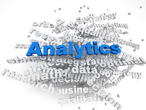3d imagen Analitics concept word cloud background Royalty Free Stock Image
