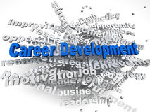 3d imagen Career development  concept word cloud background Stock Image